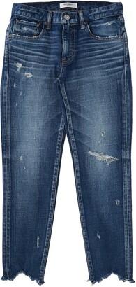 Moussy Glendele Ripped Crop Skinny Jeans