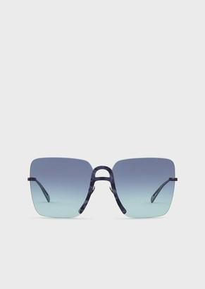 Giorgio Armani Oversize Square Woman Sunglasses