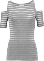 Bailey 44 Cutout striped stretch-jersey top