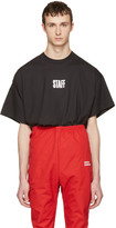 Vetements Black Hanes Edition Quick Made Oversized staff T-shirt