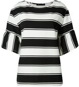 Marks and Spencer PETITE Striped Flare Sleeve T-Shirt