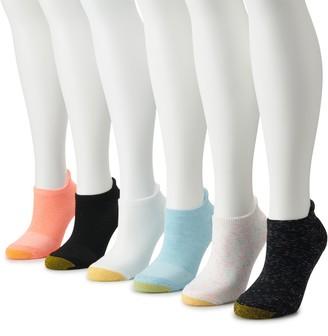Gold Toe Women's GOLDTOE 6-pack Ankle Tab No Show Socks