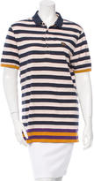 Burberry Striped Rib Knit-Trimmed Top