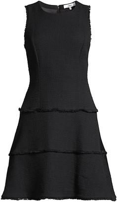 LIKELY Frayed Ruffle Dress