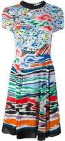 Mary Katrantzou rainbow cloud fit and flare dress - women - Viscose - 10