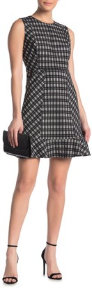 Diane von Furstenberg Reiley Plaid Ruffle Hem Dress