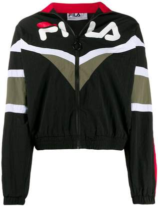 Fila logo print zip-front jacket