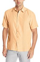 Cubavera Men's Short-Sleeve Textured Ombre Embroidery Woven Shirt