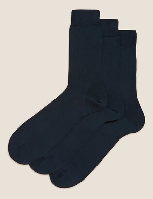 Marks and Spencer 3 Pack Luxury Cotton Socks
