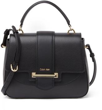 Calvin Klein Amara Hermine Leather Top Handle Satchel