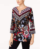JM Collection Printed Chain-Detail Tunic, Created for Macy's