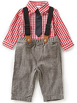 Starting Out Baby Boys 3-24 Months Woven Long-Sleeve Shirt and Pants Set