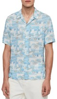 AllSaints Sayonara Hawaiian Short Sleeve Slim Fit Shirt