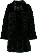 Fendi fur bow buckle coat - women - Lamb Skin/Lamb Fur - 44