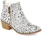 Brinley Co. Women's Faux Leather Stacked Heel Side Zip Booties