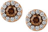 LeVian Le Vian Chocolatier Diamond Stud Earrings (3/4 ct. t.w.) in 14k Rose Gold