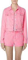 J Brand Sun Harlow Jacket in Guava