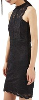 Topshop Women's Mix Lace Body-Con Dress