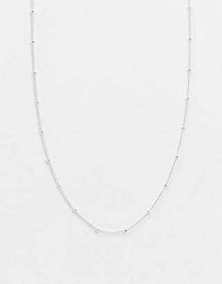 Orelia satellite single chain necklace in silver plate