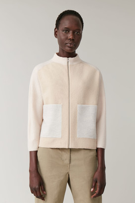Cos Zip-Up Merino Wool Jacket