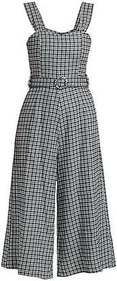 Faithfull The Brand Liv Check Linen Jumpsuit