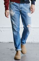 LA.EDIT Vintage Destroyed Light Indigo Skinny Jeans