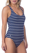 Polo Ralph Lauren French Stripe Lace-Up Back One-Piece