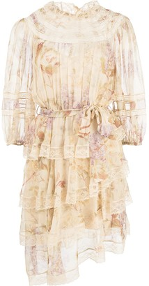 Zimmermann Sabotage Floral Print Dress