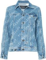 Filles a papa logo print denim jacket