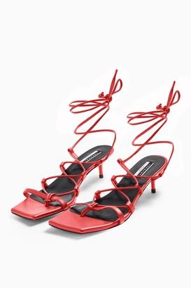 Topshop CONSIDERED VIOLA Vegan Coral Heel Sandals