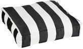 Cabana Sunbrella Outdoor Floor Pouf, Black and White Stripe