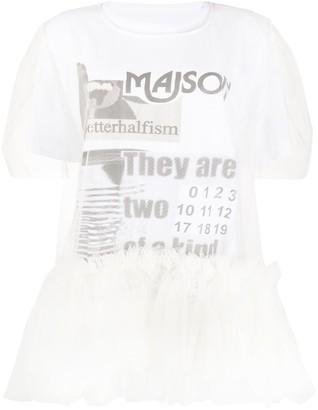 MM6 MAISON MARGIELA tulle-layered T-shirt
