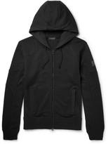 Belstaff Tillingham Loopback Cotton-jersey Zip-up Hoodie - Black