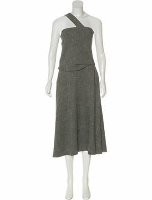 Rosie Assoulin Linen Halter Dress Black