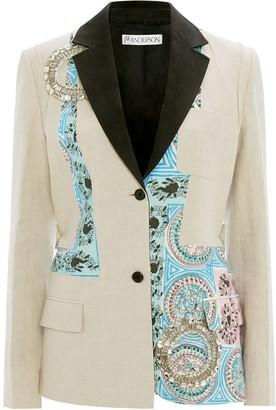 J.W.Anderson Mystic Paisley patchwork blazer