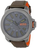 HUGO BOSS BOSS Orange Men's 1513009 New York Analog Display Quartz Green Watch