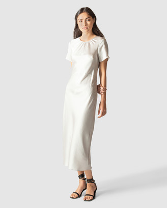 GINIA RTW - Women's Maxi dresses - Hammered Silk Carli Dress - Size One Size, S at The Iconic