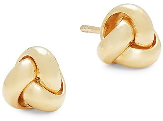 Saks Fifth Avenue Made In Italy 14K Yellow Gold Knot Stud Earrings