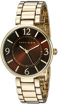 Anne Klein Women's AK/1788BNGB Brown Dial Gold-Tone Bracelet Watch