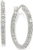 Townsend Victoria Sterling Silver Earrings, Diamond Accent Hoop Earrings
