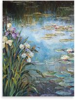 "Bed Bath & Beyond Michael Longo ""Iris and Lily Pads"" Canvas Print"