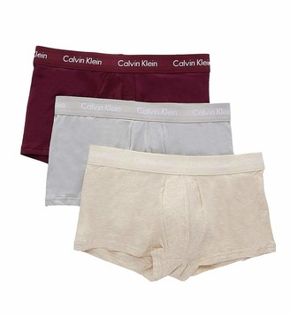Calvin Klein Men's Cotton Stretch Multipack Low Rise Trunks