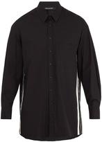 Neil Barrett Oversized striped-side cotton-poplin shirt