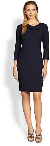 Armani Collezioni Drape-Neck Dress