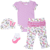 Cutie Pie Baby Purple Floral Bodysuit Set - Infant