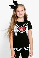 Boohoo Girls Heart Print Tee