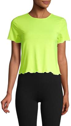 Electric Yoga Short-Sleeve Cropped Tee