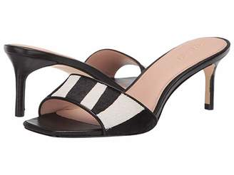 Rachel Zoe Samantha Sandal (Zebra Haircalf/Black Nappa) Women's Shoes