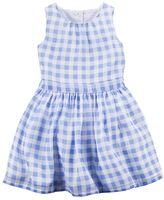 Carter's Girls 4-8 Gingham Plaid Dress