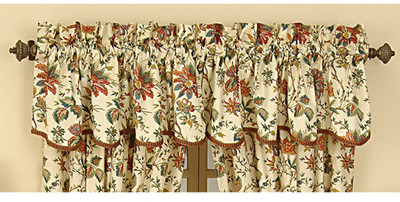 Waverly Felicite Window Treatment Collection in Cream